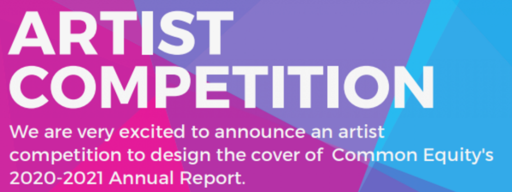 Common Equity's 2020-2021  Annual Report cover design competition