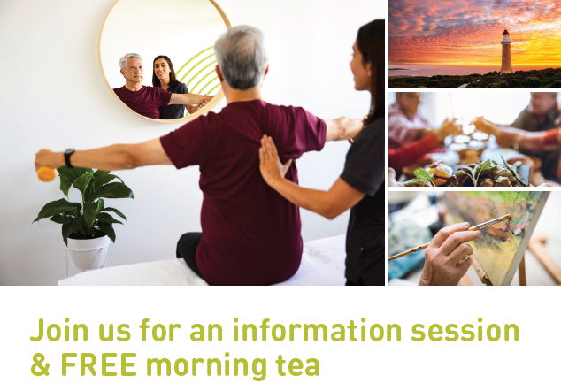 Join Us For An Information Session & FREE Morning Tea